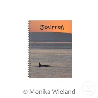 Sunset Orca Journal Notebook